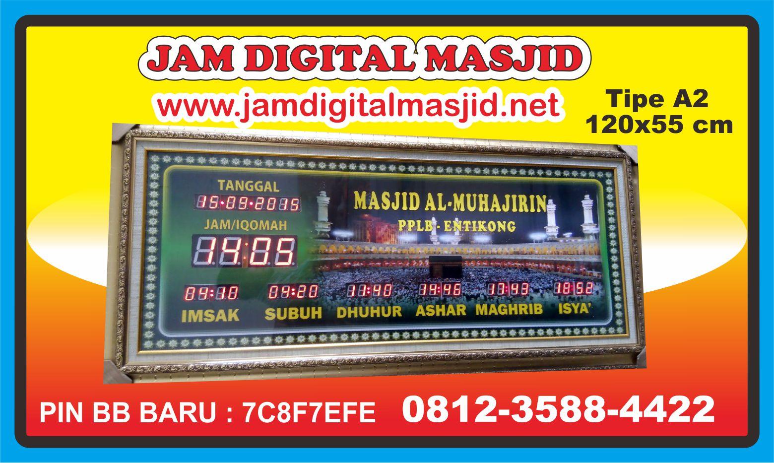 jam-digital-masjid-almuhajirin-entikong-kalimantan