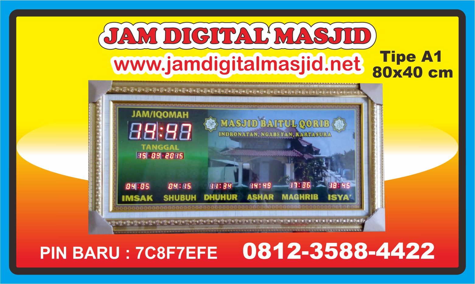 jam-digital-masjid-kartasura-solo-jateng-murah-otomatis