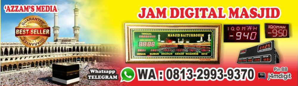 Jam Digital Masjid Elektronik Jadwal Sholat Abadi